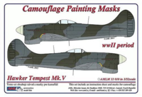Camouflage painting masks Hawker Tempest Mk.V 1/32