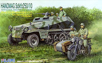 Hanomag Sd.Kfz 250/10 with B.M.W. Sidecar and 6 Soldiers