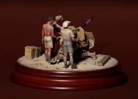 DAK crew for 2 cm Flak 38. 4 figures - Image 1