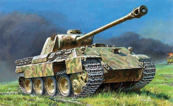 D Panzerkampfwagen Panther Ausf 1:35 Zvezda 3678