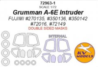 Grumman A-6E Intruder (FUJIMI) - (double sided) + wheels masks