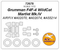 Grumman F4F-4 WildCat / Martlet Mk.IV (AIRFIX) + wheels masks