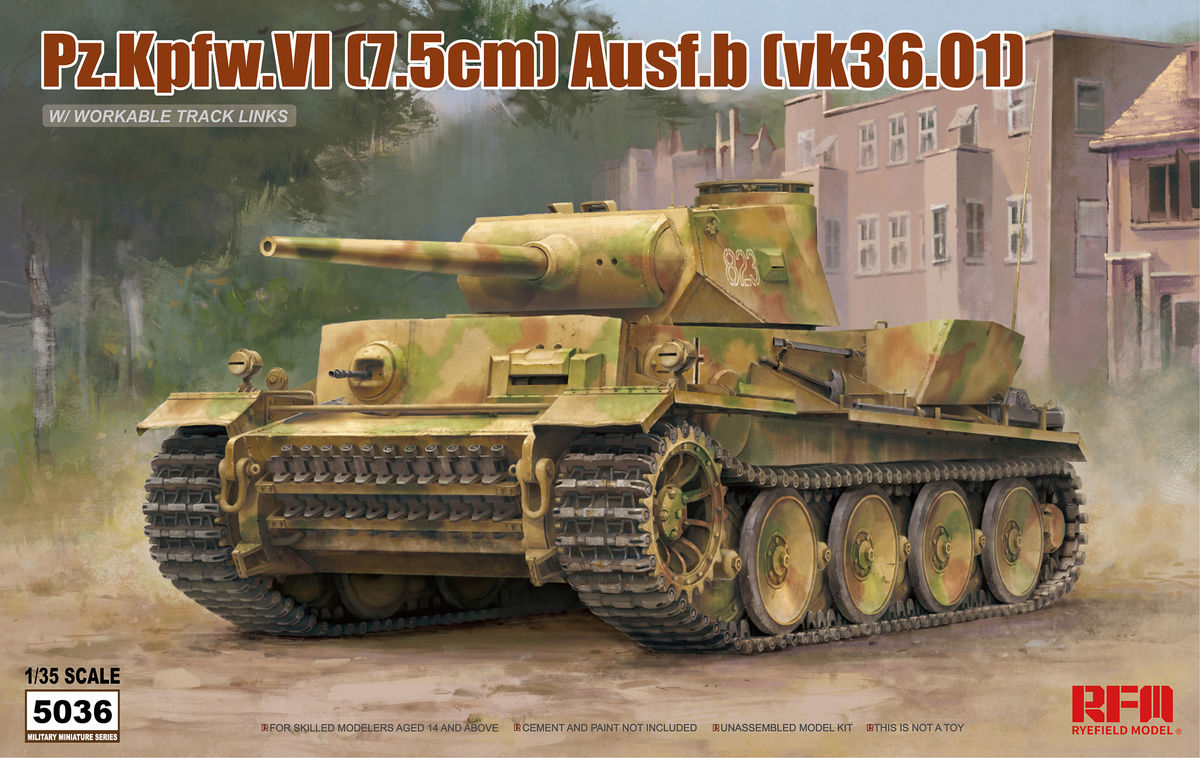 PZ.KPFW.VI AUSF.B (VK36.01) W/ WORKABLE TRACK LINKS - Image 1