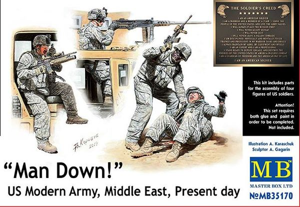 Man Down! US Modern Army, Middle East, Present day - Image 1