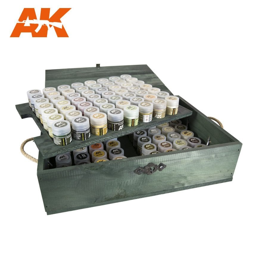 AK RC WOOD AFV: WOODEN TRANSPORT BOX, REAL COLORS – SPECIAL EDITION - Image 1