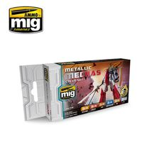 A.MIG-7158 METALLIC MECHAS COLOR SET