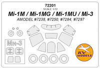 Mi-1M / Mi-1MG / Mi-1MU / Mi-3 (AMODEL) + wheels masks