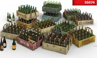 Beer bottles & Wooden Crates - Image 1