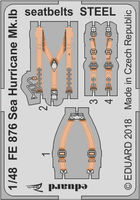 Sea Hurricane Mk.Ib seatbelts STEEL  AIRFIX - Image 1