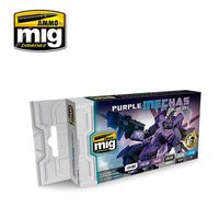 A.MIG-7157 PURPLE MECHAS COLOR SET