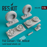F4U Corsair / F6F Hellcat Land based wheels set
