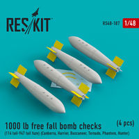 1000 lb free fall bomb checks (114 tail-947 tail fuze) (Canberra, Harrier, Buccaneer, Tornado, Phantom, Hunter) (4 pcs)