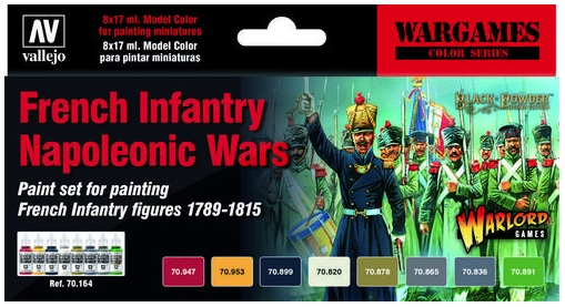 French Infantry Napoleonic Wars Paint Set (6) - Image 1