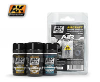 AK 2000 Aircraft Engine Effects Weathering Set