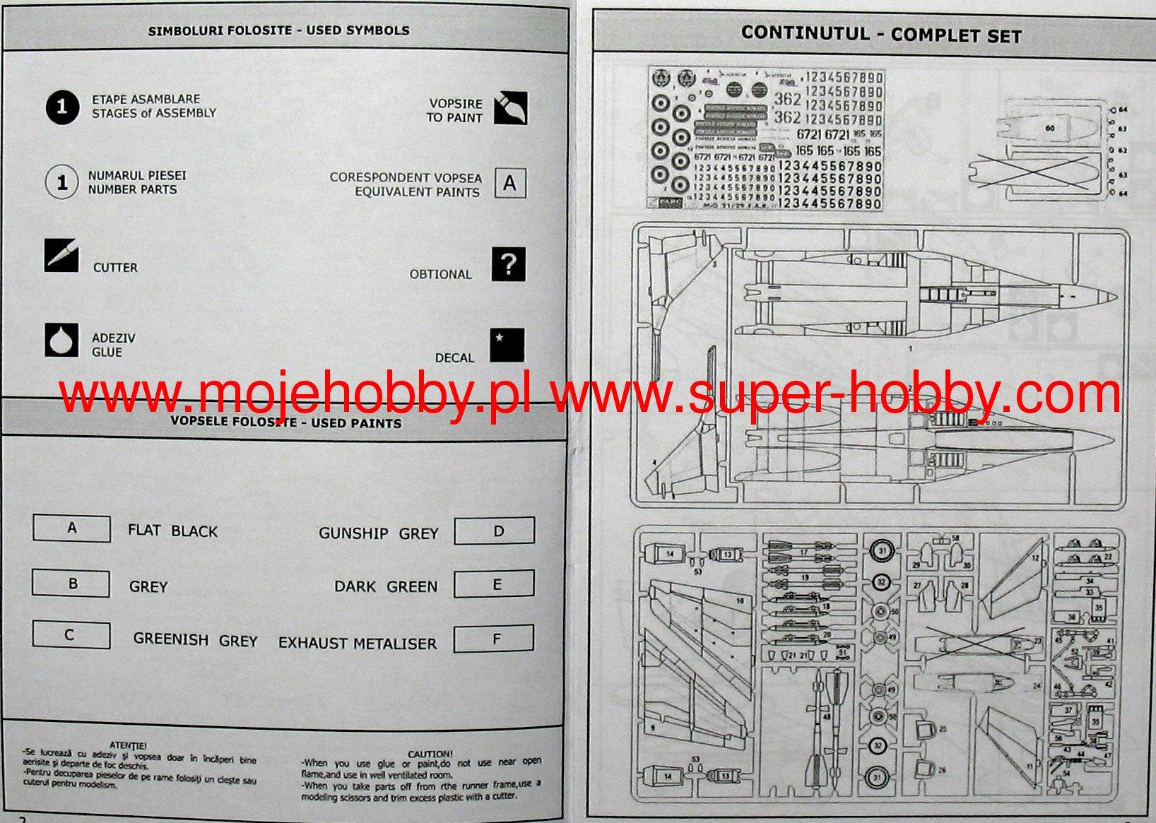 Quickboost 72183 1//72 MiG29A Fulcrum Correct Nose for Italeri
