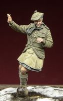 WWI Scottish Infantryman playing football