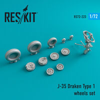 J-35 Draken Type 1 wheels set - Image 1