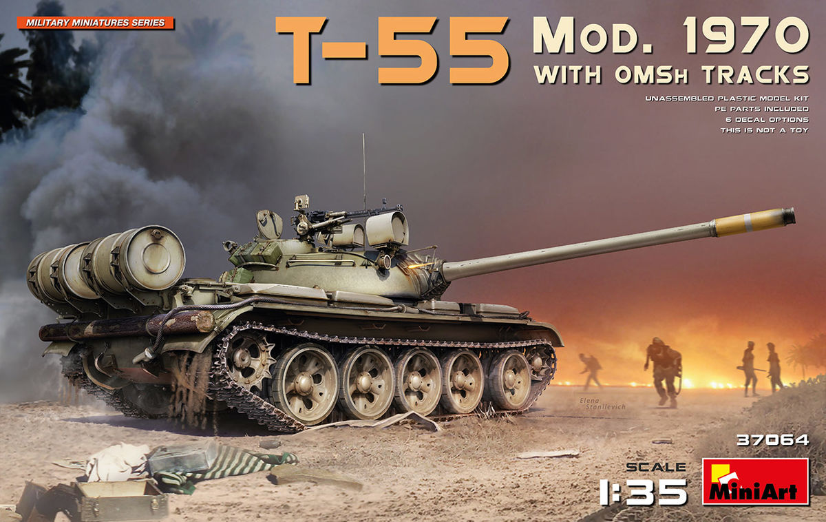 T-55 Mod.1970 with OMSh Tracks - Image 1