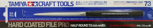 CRAFT TOOLS - HARD COATED FILE PRO (HALF-ROUND 7.5MM WIDTH) - Image 1